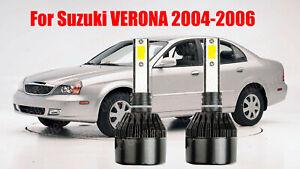 LED For Suzuki VERONA 2004-2006 Headlight Kit H7 6000K White CREE Bulbs Low Beam