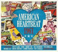 AMERICAN HEARTBEAT 1961 - 2 CD BOX SET - PATSY CLINE, BOBBY VEE & MORE