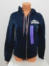 Tommy Hilfiger Womens Knit Hooded Jacket Size XS Blue...