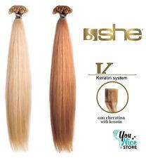 Extension She 20 ciocche 55-60cm Cheratina capelli veri lisci naturali umani