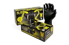 Black Mamba Super Strong Mechanics Workshop Nitrile MEDIUM Gloves Box of 100