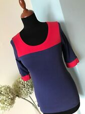 Gorgeous Designer INTUITION Top T-Shirt Size 8/10 Red & Blue Excellent Condition