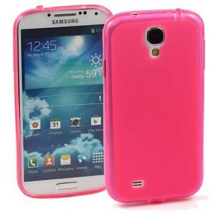 5 x PINK SAMSUNG GALAXY S4 SOFT GEL TPU SILICONE RUBBER CASE: FROSTED BACK M60