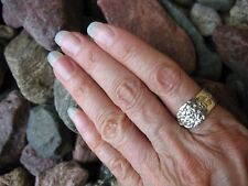 Moss Rose Spoon Ring R212 Size 6 Western Skies Silver