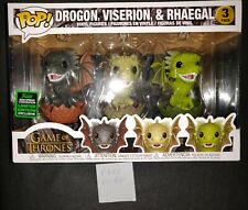 Game of Thrones - Drogon Viserion & Rhaegal Funko Pop Eccc 2020 Limited Edition