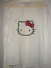GLAM Chemisier Blanc Manches longues effigie Hello Kitty VICTORIA COUTURE T L