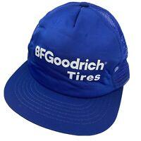 BF Goodrich Tires Swingster Trucker Cap Hat Snapback VTG Made in USA Blue
