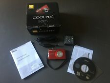 Nikon COOLPIX S205 12.0MP Digital Camera - Red, Excellent Condition w Case Logic