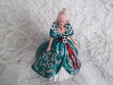 1995 Holiday Barbie Hallmark Keepsake Ornament Collector's Series Green Dress