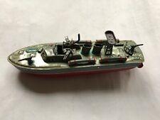 ~VINTAGE~ JAPAN TIN LITHO PT-107 WIND UP TORPEDO BOAT (NO RESERVE)