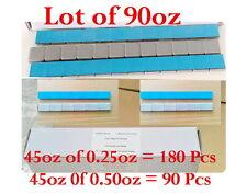 Stick on Wheel Weight Balance Assortment 0.25oz 0.50oz 45oz of Each total 90oz