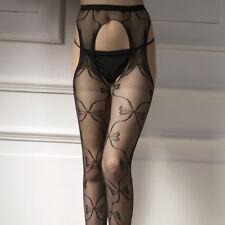 Mujer Sexy entrepierna abierta Rejilla Medias Altas a la rodilla ( Int)
