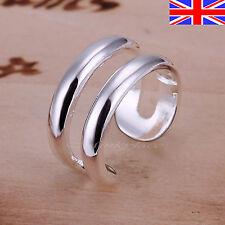 925 Sterling Silver plt RING DOUBLE RINGS THUMB FINGER Gift Bag