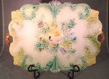 Antique Majolica Fruit Platter BEAUTIFUL