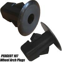 10x PEUGEOT 107 INNER WHEEL ARCH LINING MUD SPLASHGUARD TRIM CLIPS PLUGS GROMMET