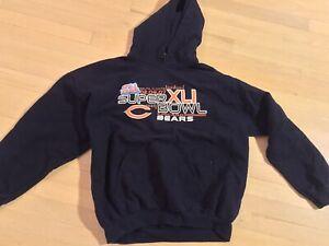 Chicago Bears Super Bowl XLI 02.04.07 Pullover Hoodie Sweatshirt XL COMFY! SOFT!