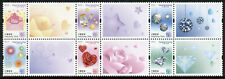 Hong Kong 2019 MNH Heartwarming Roses Diamonds 6v Block Greetings Stamps