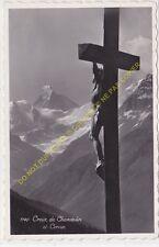 CPSM SUISSE CROIX DE CHARDOLIN ET CERVIN Edit PERROCHET 1933