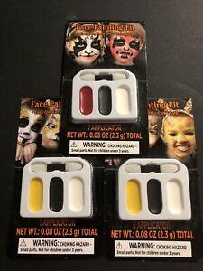 Halloween cream makeup kit 3 colors face paint Set Of 3