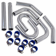 "2.5"" 63mm DIY CUSTOM RACE KIT CAR TURBO SILICONE FMIC INTERCOOLER HARD PIPE KIT"