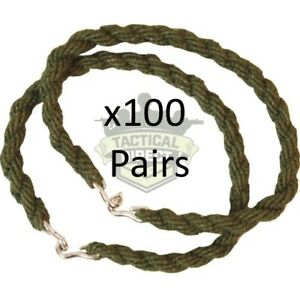 100 PAIRS ARMY TROUSER TWISTERS MTP GREEN TWISTS TWISTIES CADET WHOLESALE 36p