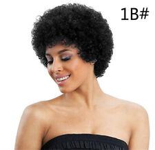 Brazilian Short Afro Kinky Curly Human Virgin Hair Wigs Wave Wig for Man&Woman