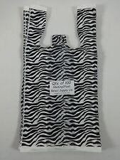 Qty 100 Zebra Print Design Plastic T Shirt 8 X 5 X 16 Retail Bags With Handles