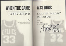 When the Game Was Ours Magic Johnson & Larry Bird autographed by Magic PSA/DNA
