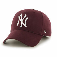 47 BRAND NEW Mens Maroon Cap New York Yankees MVP BNWT