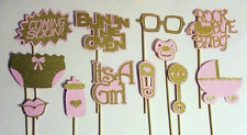 Pink and Gold Baby Shower Photo Booth Props. Great gift idea!