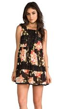 Jen's Pirate Booty NWT Happy Babydoll Dress in Black Floral Size S, M  Was $132