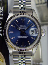 ROLEX Ladies White Gold & Stainless DateJust Blue Roman Jubilee 79174 SANT BLANC