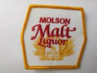 MOLSON MALT LIQUOR BEER VINTAGE HAT PATCH BADGE CANADA BREWERY ADVERTISING