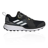 adidas Mens Terrex Two Flow BOA Trail Running Shoes Trainers Sneakers Black