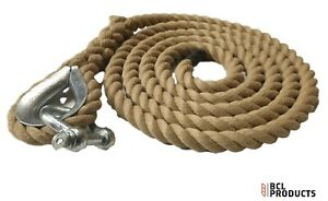 24mm Synthetic Hemp Gym Climbing Rope With Thimble & Shackle - Gym - Fitness