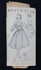 Vintage 1958 BESTWAY D3659 Sewing Pattern Size 34 DRESS & Short Fitted JACKET