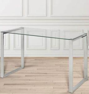 Sleek, Modern glass desk
