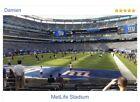 New York Giants tickets 2021 vs. Atlanta Falcons Sec 123 Row 15 Seats 10,11