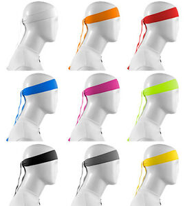 Aero Tech Designs Tie Sweatband Head Band Made in USA Lots of Colors