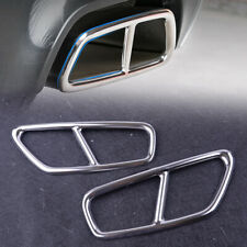 Rear Exhaust Tail Tip Strip Cover Trim 2pcs fit for BMW 5 Series 2018 Stainless