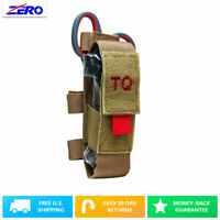 Tan Tourniquet Trauma Shear Pouch MOLLE TQ Belt Straps CAT First Aid Holder
