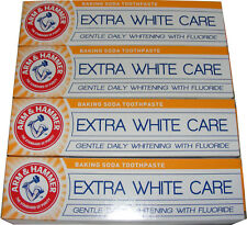 4 x ARM AND HAMMER - EXTRA WHITE CARE - BAKING SODA TOOTHPASTE GENTLE WHITENING