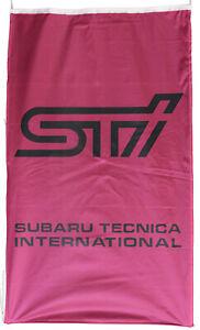SUBARU-FLAG STI PINK VERTICAL BANNER 5 X 3 FT 150 X 90 CM