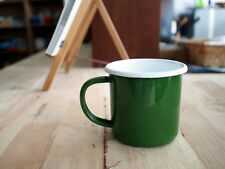 Green Enamel Mug Cup