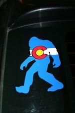 Colorado State Flag Bigfoot Sasquatch Yeti Die-Cut Sticker