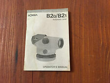SOKKIA B20 B21 AUTOMATIC LEVEL OPERATOR'S MANUAL SURVEYING