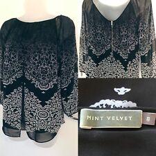 ⭐️ MINT VELVET 8 Top Blouse black grey ombré patterned floaty