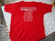JOHN MAYER BATTLE STUDIES WORLD TOUR  2010 T SHIRT