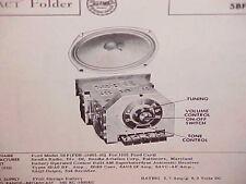 1955 FORD COURIER CUSTOMLINE FAIRLANE CONVERTIBLE AM RADIO SERVICE MANUAL 55 1