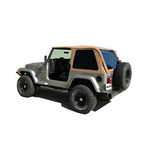 Rampage 109517 Frameless Soft Top Kit Fits 1997-2006 Jeep Wrangler and TJ